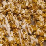 #SuperBowl Treat anyone? Cinnamon Caramel Corn with White Chocolate #Recipe