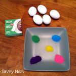 Super Cute and Easy Polka Dot Easter Eggs