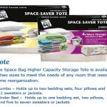 Get organized this Spring with Space Bags Totes! Review and GivAway