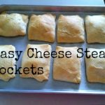 Easy Cheesy Cheese Steak Pockets #Recipe