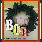 Fun and Easy Halloween Door Wreath #Craft #DIY