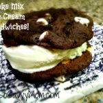 Sunday Sweet Treats: Cake Mix Ice Cream Sandwiches! #Recipe