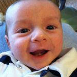 "Wordless Wednesday: Baby Brother says ""Good Morning!"""