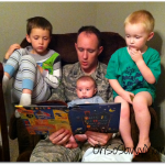 Wordless Wednesday: Storytime with Daddy