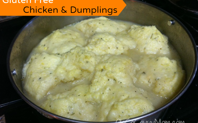 Delicious Gluten Free Chicken and Dumplings