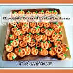 chocolate covered pretzel Jack-o'-lanterns