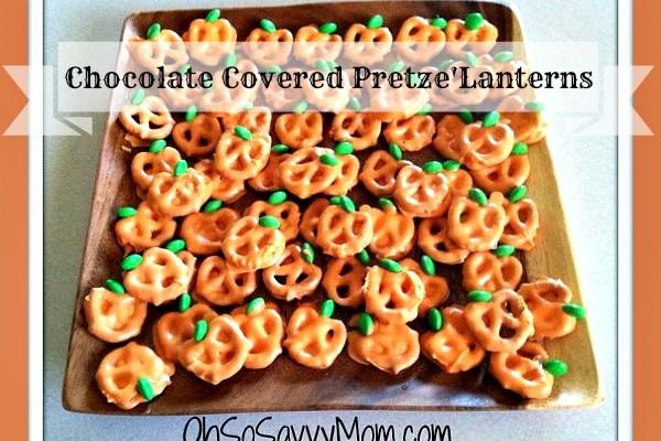 """Boo""licious Treats – Chocolate Covered Pretzel Jack-o'-Lanterns"