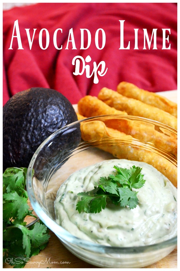 Avocado Lime Dip Recipe