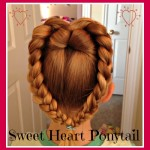 Sweet Heart Ponytail for Valentine's Day – Hair Tutorial