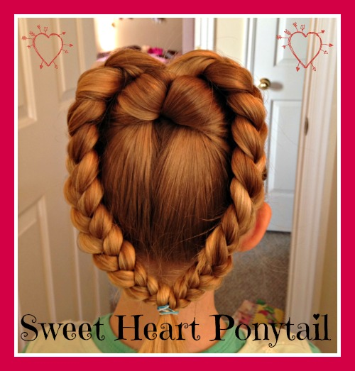 Cute Ways To Do Your Hair When Wet: Sweet Heart Ponytail For Valentine's Day