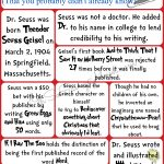Fun facts about Dr. Seuss free printable