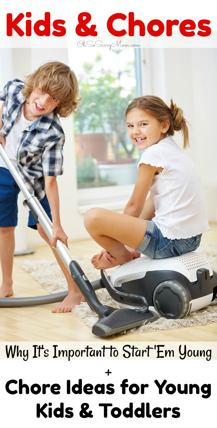 Kids and Chores, chore ideas for toddlers and young children