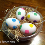 Dye Free Polka Dot Easter Eggs