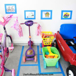 Garage organization - Easy way to help kids keep the garage organized
