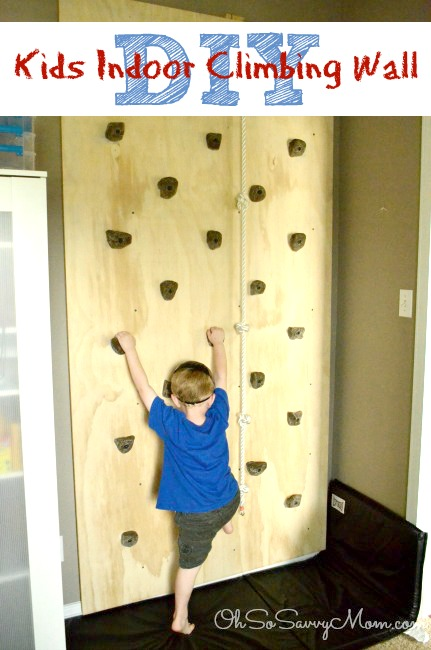 How to build a diy kids climbing wall easy follow