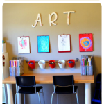 Display Your Kids Art with this DIY Kids Art Wall