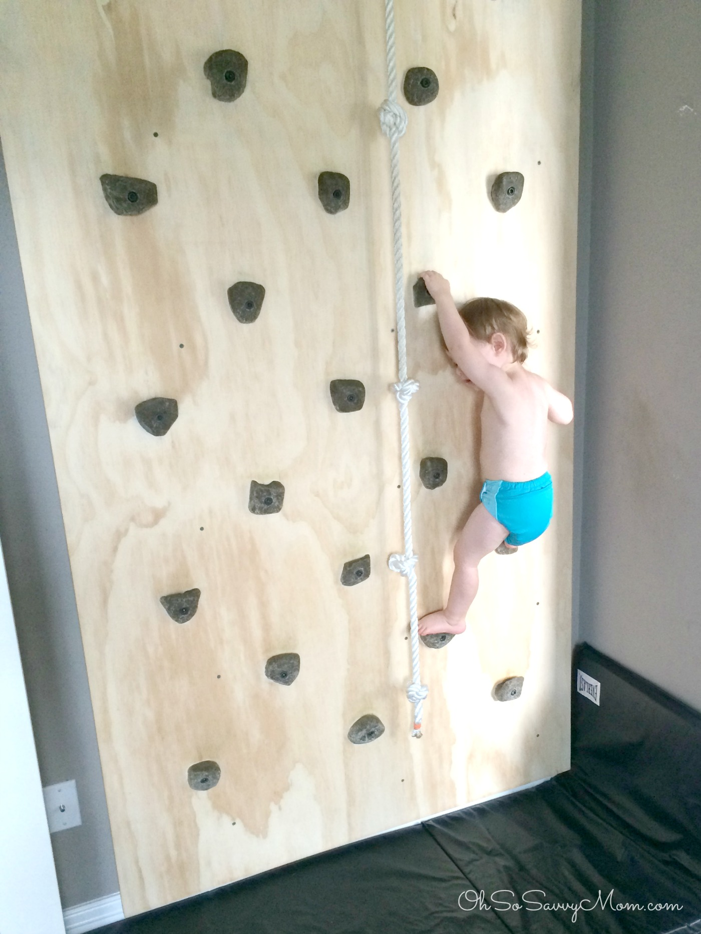 Rock climbing wall for toddlers