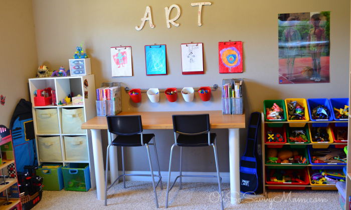 Create Homeschool Area in Small Spaces