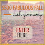 $500 Fabulous Fall Cash Giveaway!