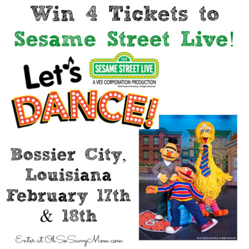 Sesame Street Live, Shreveport, Bossier City Let's Dance giveaway
