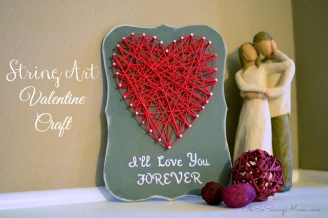 I Ll Love You Forever String Art Valentine Oh So Savvy Mom
