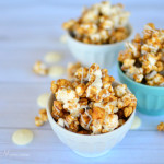 White Chocolate Drizzled, Honey Cinnamon Caramel Popcorn Recipe