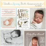 Timeless Spring Birth Announcements + 15% off Minted Promo Code