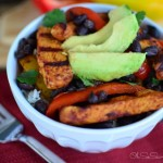 Grilled Chicken Fajita Bowls with Cilantro Lime Rice