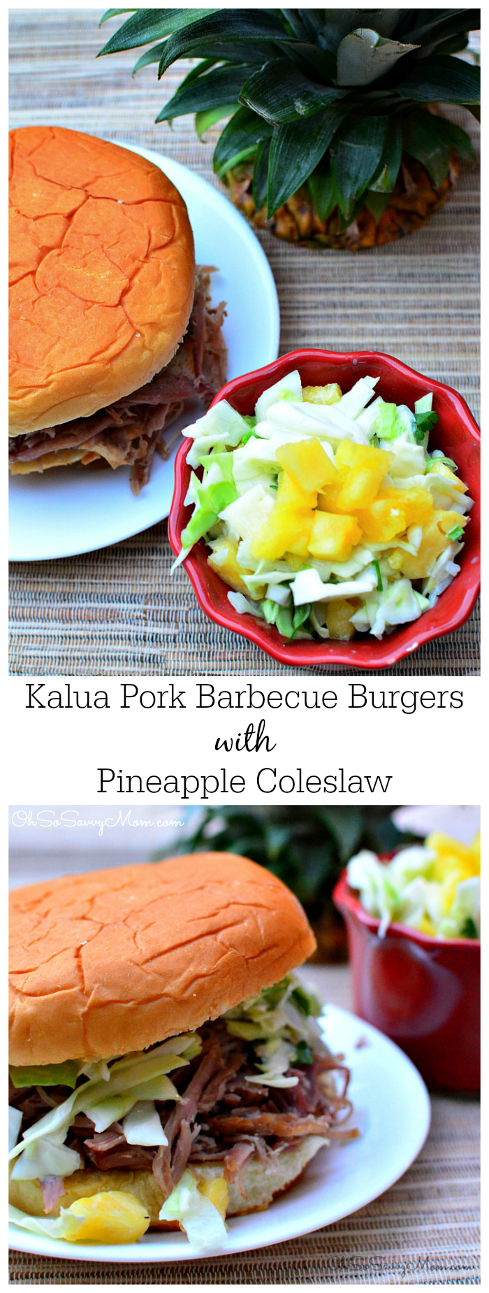 Kalua Pork Burgers with Pineapple Coleslaw pinterest