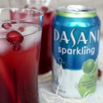Cranberry Pomegranate Lime Sparkling punch with Dasani