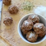 No-bake Chocolate Coconut Protein Balls