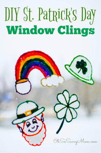 St. Patrick's Day Window Clings Craft