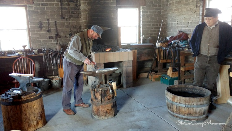 Blacksmithing at This Is The Place