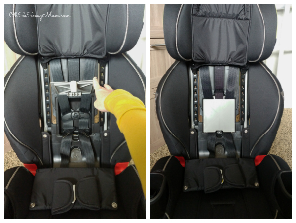 Graco Extend2Fit 3-in-1 Car Seat booster seat strap storage