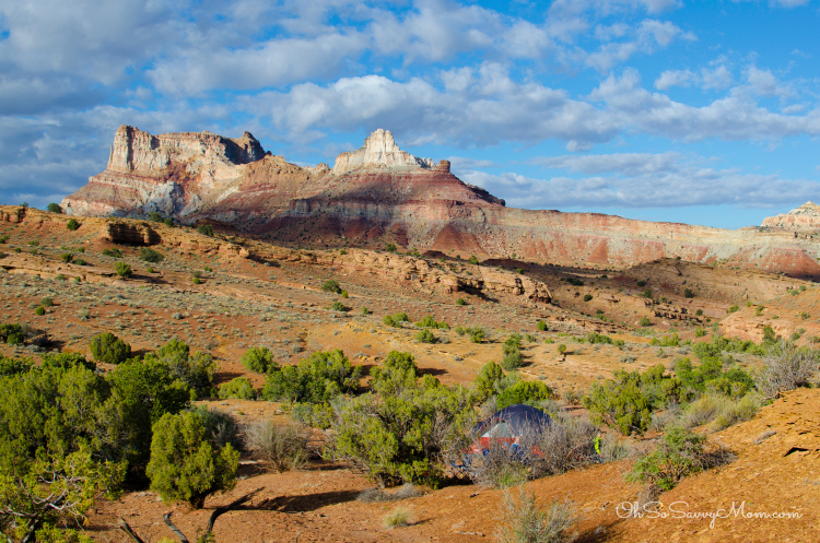 Behind the Reef Road Temple Mountain Camping on BLM land at Goblin Valley