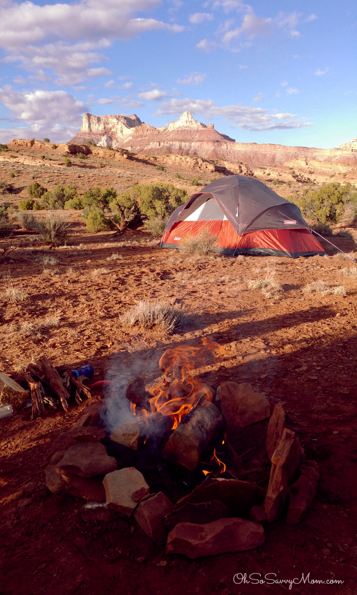 Camping off of Temple Mountain Road at Goblin Valley