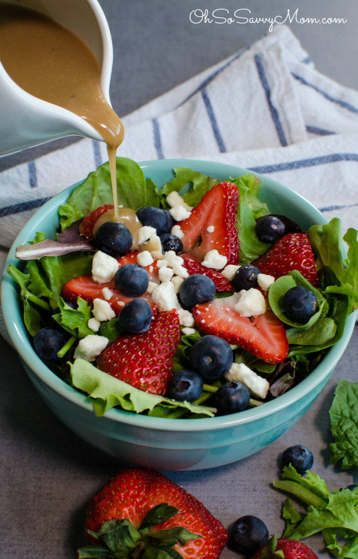 Harvest Berry Salad with Balsamic Vinaigrette