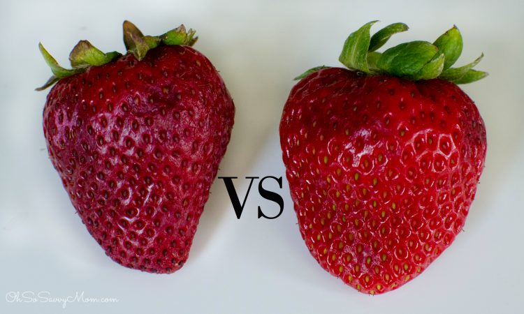 Rubbermaid FreshWorks Strawberry Comparison