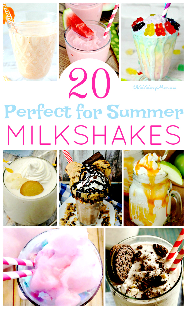 Sometimes you just need to indulge a little. These amazing Milkshake Recipes are just the way to do that! I've even included some Vegan Milkshake Recipes! Perfect summer dessert!