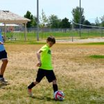 Practicing drills at Challenger Sports British Soccer Camp