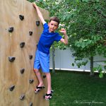 backyard climbing wall