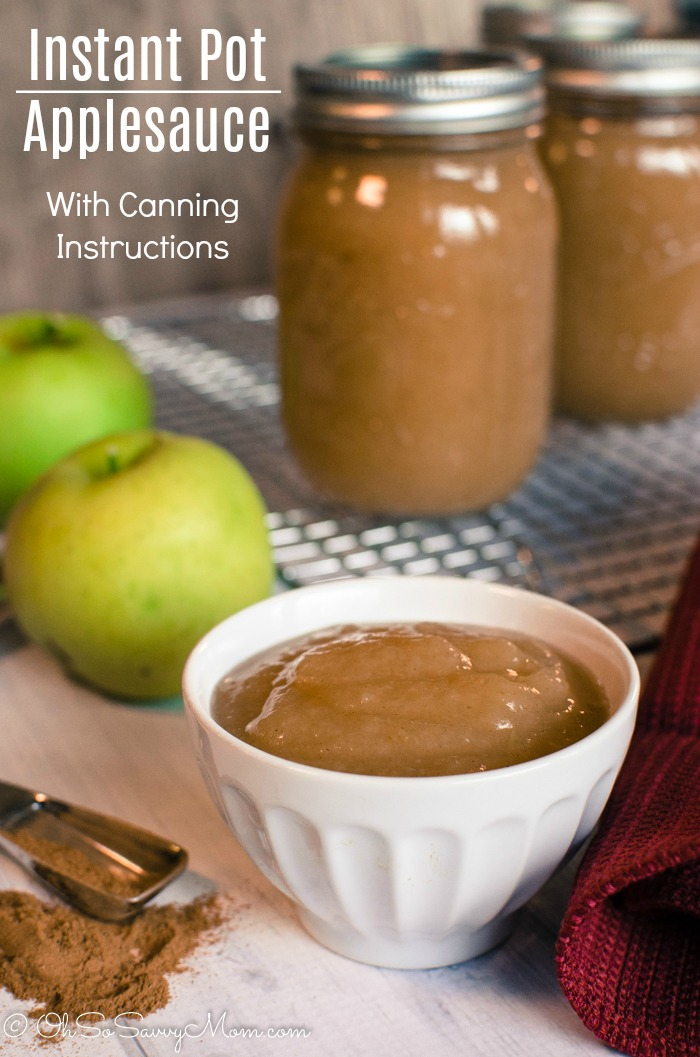 Instant Pot Applesauce Recipe with Canning Instructions