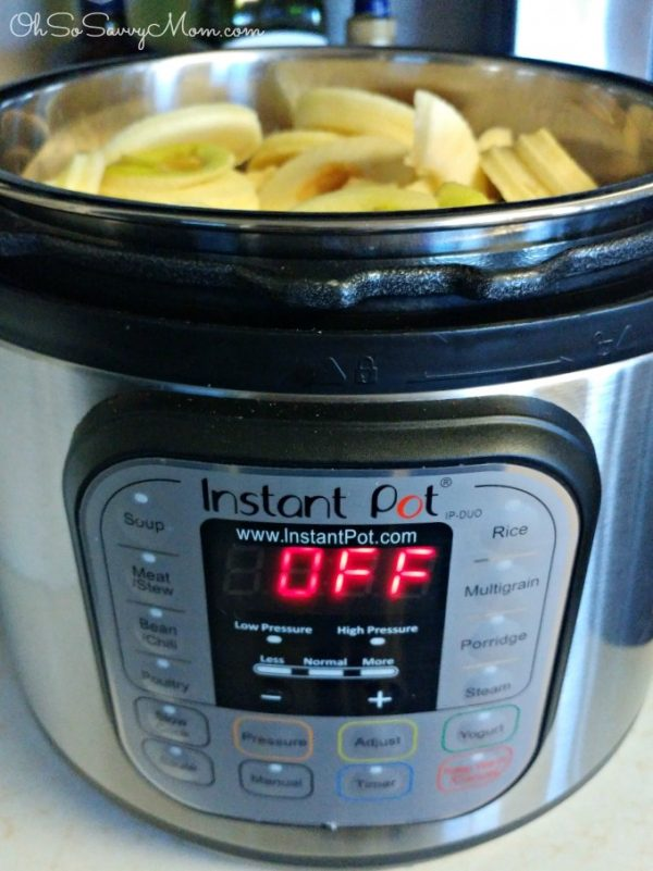 Making Instant Pot Applesauce