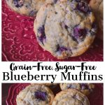 Grain-free, Sugar-Free Blueberry Muffins, plaeo, whole30 and candida diet