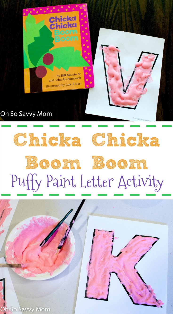 Chicka Chicka Boom Boom Letter Activity