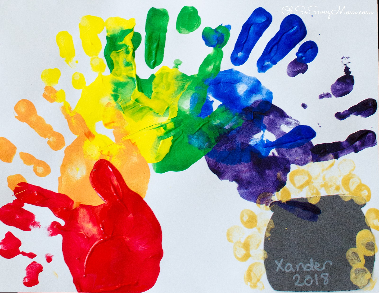 Handprint Rainbow Craft