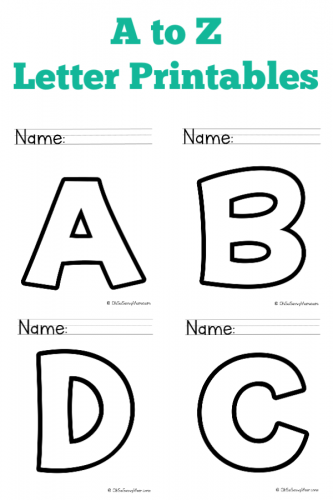 A to Z Free Alphabet Letter Printables