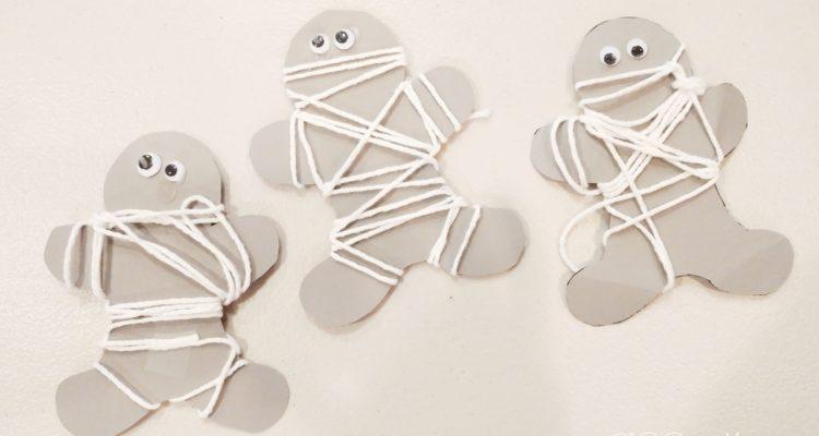 Halloween Mummy Preschool Craft