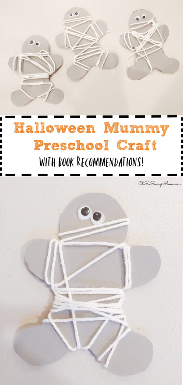 Halloween Mummy Preschool Craft with Book Recommendations