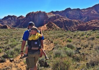 Hiking with a toddler using an Ergo baby carrier